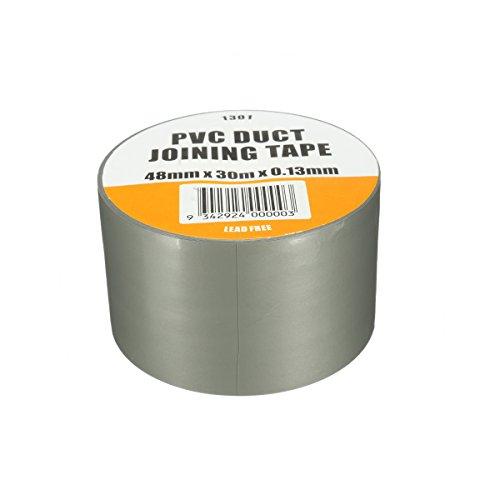 DyNamic Pvc Duct Tape Waterproof Heavy Duty Gaffa Tuch Silber Grau 3000X4.8Cm