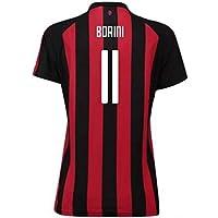 2018-2019 AC Milan Puma Home Womens Football Soccer T-Shirt Camiseta (Fabio Borini 11)