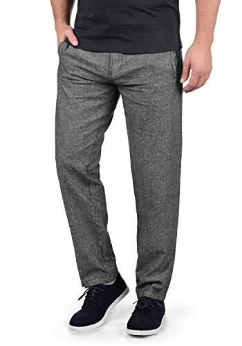 Indicode Ledionos Herren Leinenhose Lange Stoffhose Regular Fit, Größe:XXL, Farbe:Black (999) -