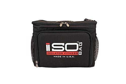 Isocube 6pasti management system/isolato pasti della borsa termica–isolator fitness, schwarz/rot, 6 mahlzeiten