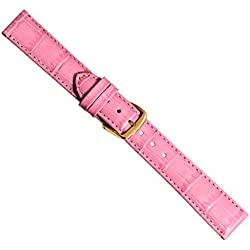 Replacement Band Watch Band Leather Kalf pink 20329G, width:28mm