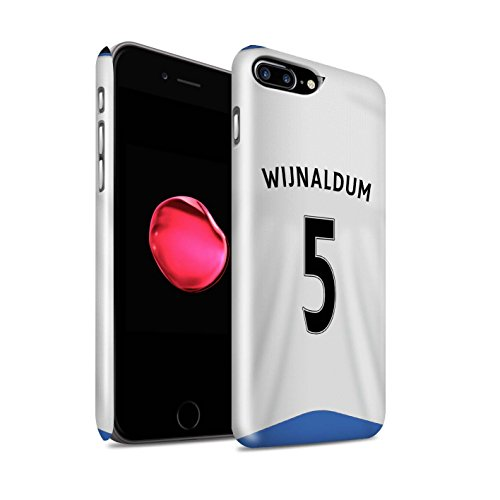 Offiziell Newcastle United FC Hülle / Glanz Snap-On Case für Apple iPhone 7 Plus / Anita Muster / NUFC Trikot Home 15/16 Kollektion Wijnaldum