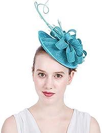 Elegante Novia Headwear Tela Hecha A Mano Pluma Bowler Hat Diademas  Banquete De Boda Cóctel Accesorios 63e69e5916f
