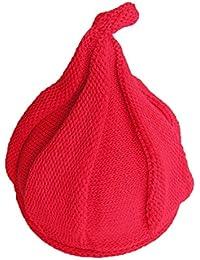WSLCN Unisex Baby Jungen Mädchen Hüte mit Halstücher Strickhut Pudelmütze Süß Mütze Kontrastfarbe Winter Warm Schal Cartoon Hundohren Accessoires