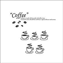 67* 74cm tazas de café Cocina Adhesivo De Vinilo Para Pared De DIY de pvc extraíble Mural decoración del hogar Póster Antecedentes
