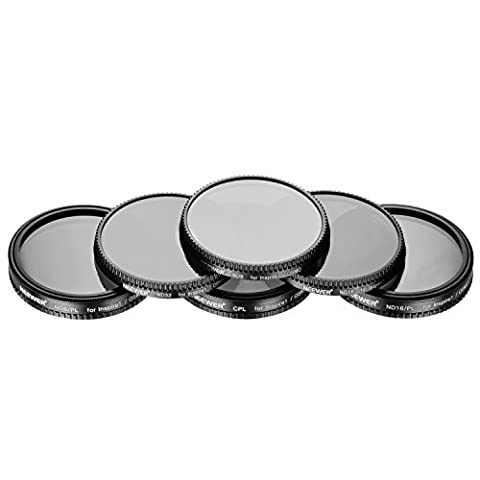 Neewer Mehrteiliges 6-teiliges Filter-Set für DJI OSMO / Inspire 1, hergestellt aus Ultra Hochauflösenden Glas und Aluminium Gewinderahmen, beinhaltet: CPL, ND8, ND16, ND32, ND8 / PL und ND16 / PL Filter