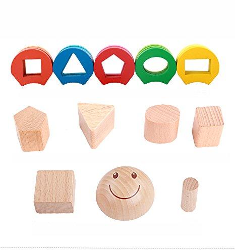 Hlzerne-pdagogische-Vorschul-Form-Farberkennung-Geometrische-Block-Stapel-Puzzle-Sort-Spielzeug-Geschenke-zum-Geburtstag-Spielzeug-fr-Alter-3-4-5-Jahre-alt-und-Up-Kind-Baby-Kleinkind-Jungen-Mdchen