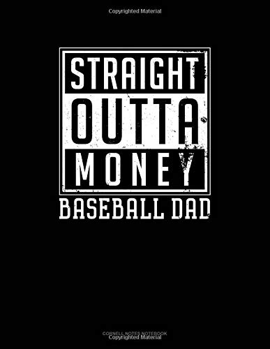 Straight Outta Money Baseball Dad: Cornell Notes Notebook por Jeryx Publishing