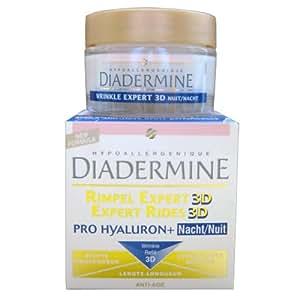 Diadermine - Crème anti-rides de nuit Haute Performance Expert Rides 3D Pro Hyaluronique Complexe 3D Refill - 50 ml