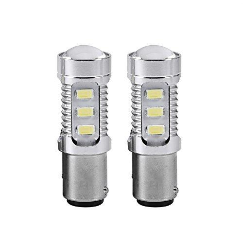 Qiilu 2 stücke LED 1157 BAY15D 15 LED 5630 High Power Bremslicht Lampen Auto Stop Licht Weiß