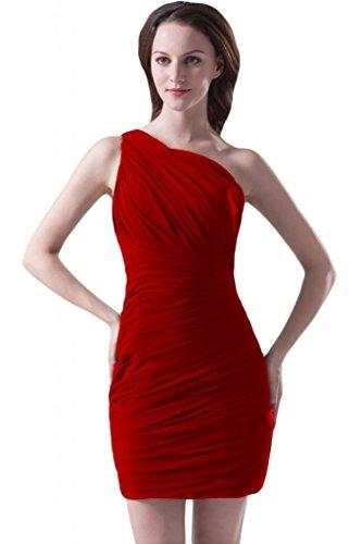Sunvary Empire vita Tulle elegante Chiffon Prom abiti fascia con motivo floreale Rosso