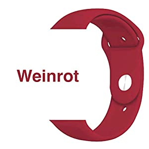 Armband für Apple Watch in Weinrot 38/40mm passend für Apple Watch 1 2 3 4 5