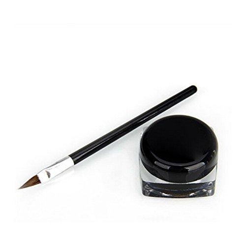 2 Stück Fashion Wasserdichte Eyeliner-Gel Eye Liner Schatten Gel Schwarz Kosmetik +...