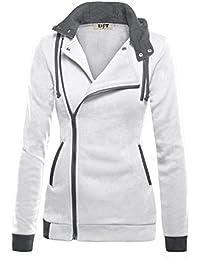 DJT Mujeres Chaqueta Corta con Capucha Estilo Casual Jacket Sportswear