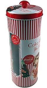 Coca Cola Retro Coke Vintage Lady Red Drinking Straw Holder / Dispenser by Coca Cola