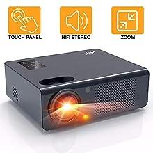 Proiettore, Artlii Energon Videoproiettore, Supporto Full HD 1080P, Dolby Surround AC-3, Zoom, Doppio Altoparlante Stereo, Remote Learning, per TV Box, Smart Phone, PC, Ps4