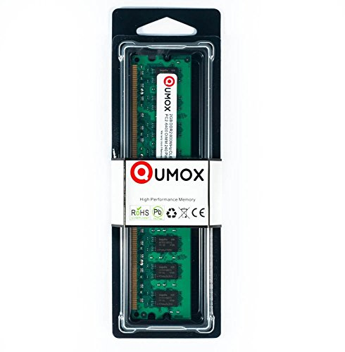 QUMOX 2GB DDR2 800MHz PC2-6400 PC2-6300 (240 PIN) DIMM Desktop-Speicher - Ddr2-cas Latency