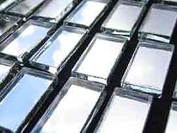 Mosaic Mirror tiles 10 x 20 x 3mm Rectangle Border Tiles.100 Tile pack