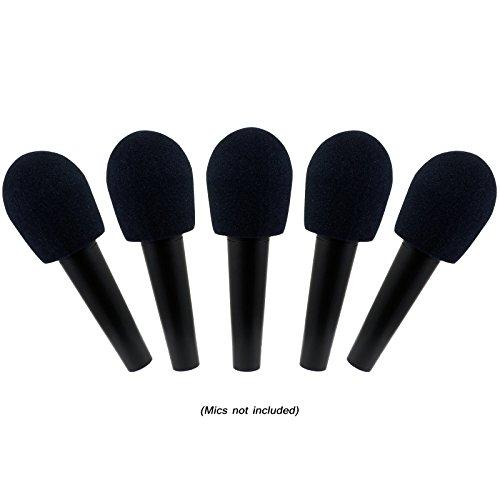 GLS Audio® Mikrofon Windschutzscheibe,-schwarz Mikrofon Windschutzscheibe-Mike Wind Screen passend für alle Standard Größe ball-type Mikrofone-Schwarz Wind Bildschirme-5PACK -