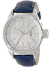 JBW J6287E - Reloj de cuarzo para hombre, correa de cuero color azul