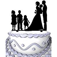 meijiafei familia par celebrar la Bady con 3 niños decoración para tarta ...