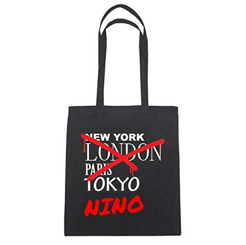 JOllify Nino di cotone felpato b5825 schwarz: New York, London, Paris, Tokyo schwarz: Graffiti Streetart New York