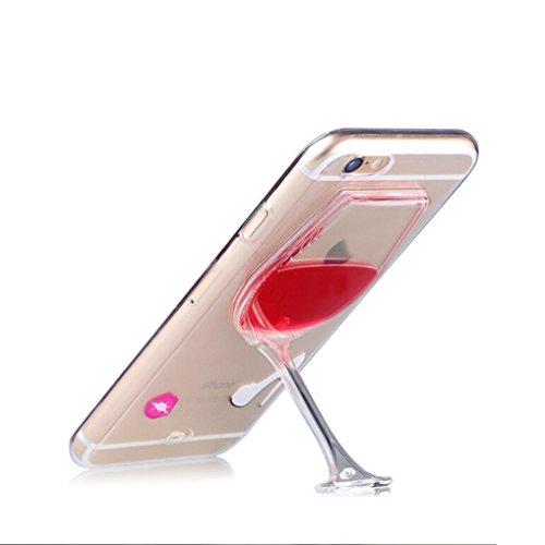 Coque en silicone synthétique avec protection d'écran en verre, gel absorbeur de chocs résistant aux rayures et stylet pour iPhone SE, iPhone 5S, iPhone 5 Red wine