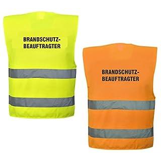 Warnweste mit Text - Brandschutzbeauftragter - bedruckt Rückendruck Sicherheitsweste EN ISO 20471 (Gelb)