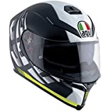 AGV Casco Moto K-5S E2205Multi plk, darkstorm Matt Black/Amarillo, L