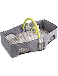 Baby Bucket Infant Travel Bed (Grey & Green)