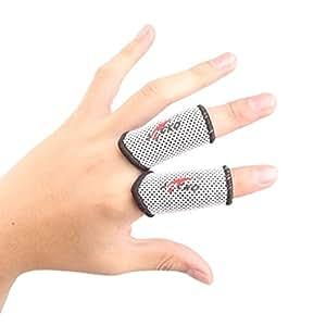 2PCS doigt élastique protecteur manchon de doigt pour le basket-ball, blanc