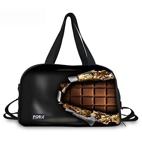 Reisetasche Sporttasche 3D Schokolade Reisetaschen Reise Duffel Tasche Tragetasche Handtasche & Schuhfach