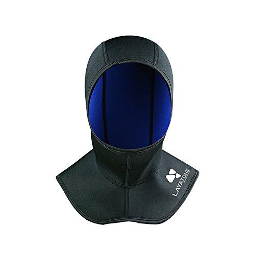 LayaTone Neopren Hood 2.5mm Neoprenhaube Herren Damen Tauchen Frauen für Tauchen Surfen Schnorcheln - Doppelseitige Tauchen Hood, Schwarz und Blau