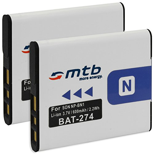 2x Akku NP-BN1 für Sony Cyber-shot DSC-TX100V, W710, W830, WX80, WX220, QX100... (s. Liste)