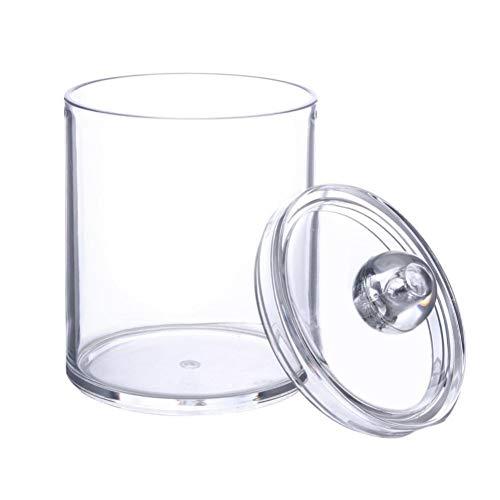 Beito Wattepad Halter 1 STÜCK Qtip Halter Spender Bad Klar Glas Organizer Kunststoff Acryl Fall Für Wattebällchen, Wattestäbchen, Q-tips, Make-Up Pads Lagerung (Qtip-Halter)