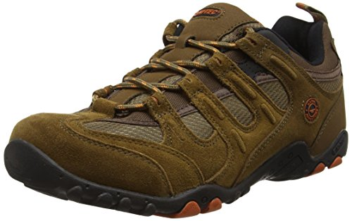 Hi-Tec - Quadra Classic, Zapatillas de Senderismo Hombre, Marrón (Smokey Brown/Burnt Orange), 42 EU