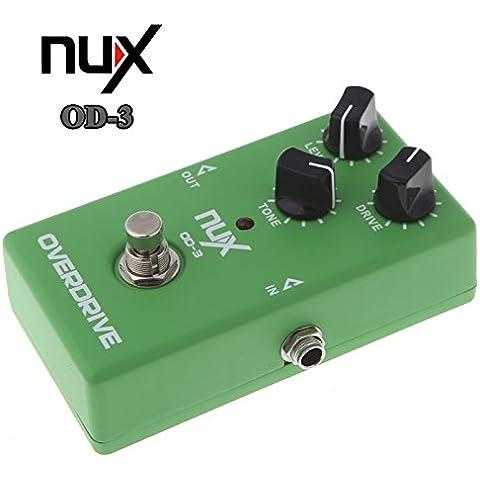 isremi (TM) Vendita calda! NUX OD-3 Overdrive elettrica effetto della chitarra pedale di Ture Effect Bypass verde di alta qualit¨¤ della chitarra Pedal