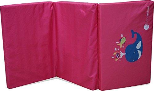 Asalvo 13057 - Colchón cuna de viaje, diseño ballena, color rosa