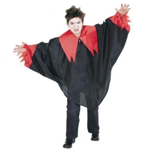 FASCHING 10029 Kinder- Kostüm Diavolo Cape Umhang, Vampir Teufel Halloween: Größe: 152-164
