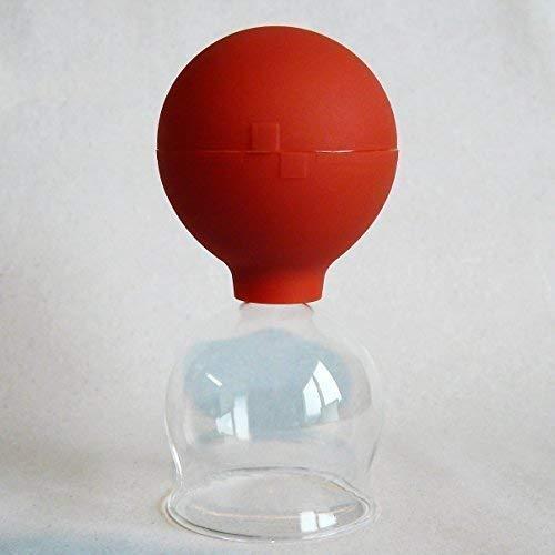 Schröpfgläser Schröpfglas 45 mm mit Saugball zum Feuerlosen Schröpfen Naturheilverfahren