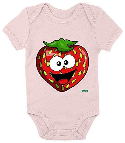 Olive Kostüm Einfach Eine - HARIZ Baby Body Kurzarm Erdbeere Lachend Früchte Sommer Inkl. Geschenk Karte Zuckerwatte Rosa 0-3 Monate