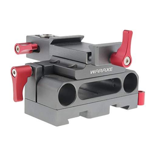 P Prettyia Kamera Schnellwechselplatte Quick Release Baseplate für Sony A6000 / 6300/6500 Kamera, mit 2-Loch 15mm Rod Clamp -