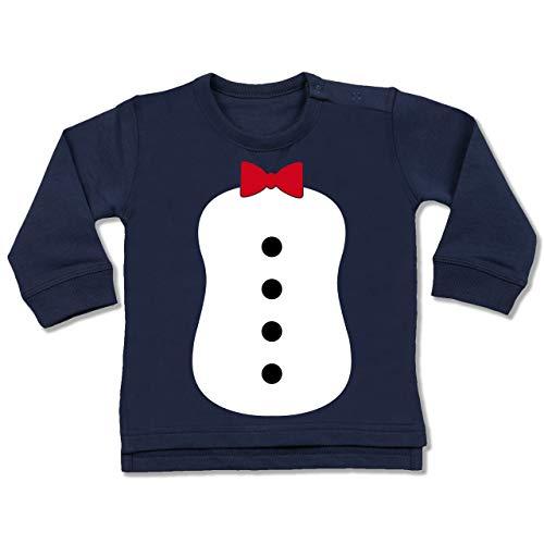 Monate Pinguin 18 Kostüm - Shirtracer Karneval und Fasching Baby - Pinguin Karneval Kostüm - 12-18 Monate - Navy Blau - BZ31 - Baby Pullover