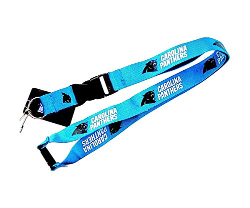 Carolina Panthers Blue Lanyard Keyring
