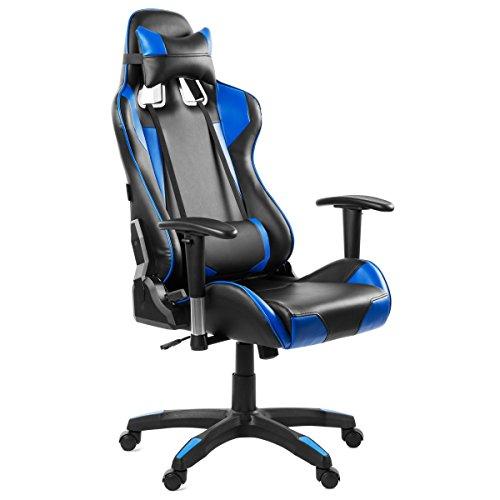 Mc Haus Chaise De Bureau Pour Gaming Avec Dossier Inclinable