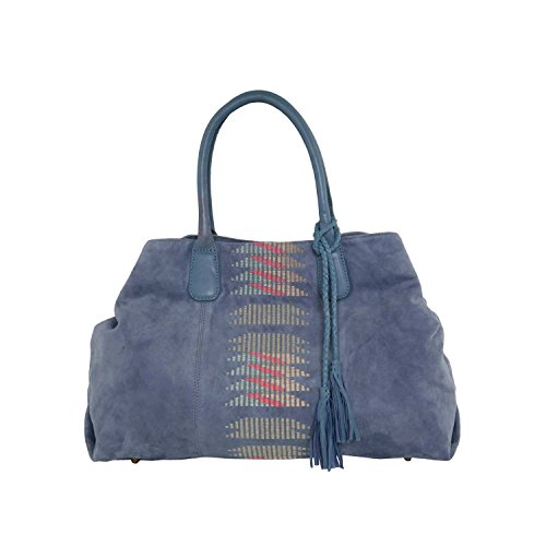 Liebeskind Berlin Chelsea Embroidery/suede Leather, shoppers blau
