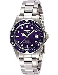 invicta watches shop amazon uk invicta men s pro diver quartz watch blue dial analogue display and silver stainless steel bracelet 9204