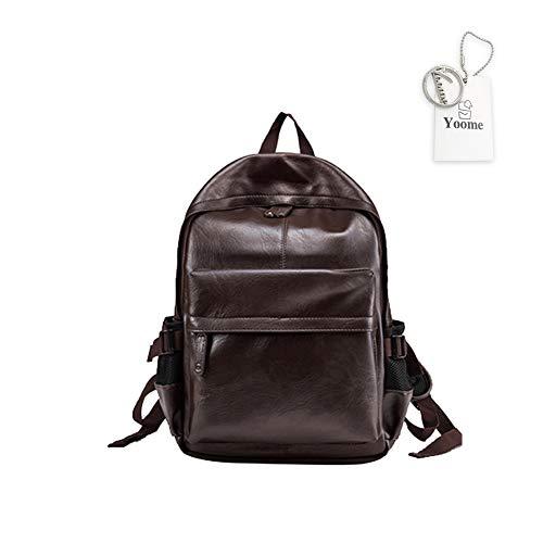 Yoome PU Zaino per Donne e Uomini Scuola College Bookbag Computer Portatile Borsa da Viaggio Zaino