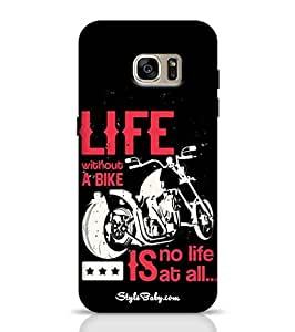 Samsung Unique Cases Life without a Bike is No Life At All for Galaxy S7 Multicolor
