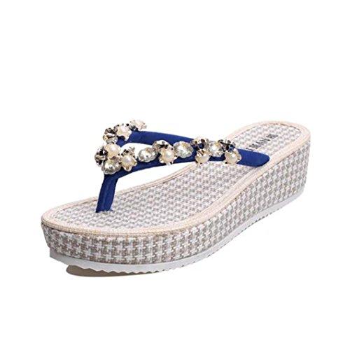 Clode®  Clode-fa12, Tongs pour femme Bleu